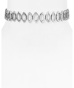 Rebecca Minkoff   Navette Metal Choker Necklace 11.25