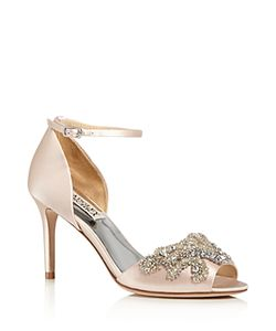 Badgley Mischka | Barker Embellished Ankle Strap High Heel Sandals