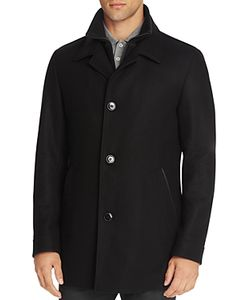 Hugo   Barelto Layered Wool Blend Coat