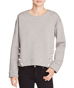 Boutique Moschino | Pearl Button Sweatshirt