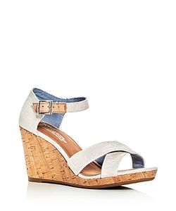 TOMS | Sienna Ankle Strap Wedge Sandals