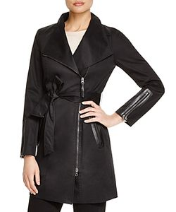 Mackage | Estela Leather Trimmed Trench Coat