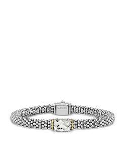 LAGOS   18k And Sterling Prism Topaz Rope Bracelet