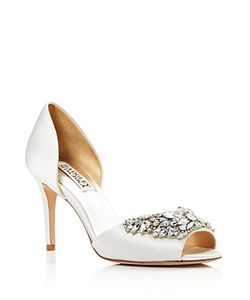 Badgley Mischka | Candance Embellished Dorsay High Heel Pumps