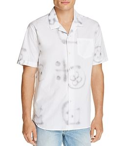 Soulland | Cornwall Graffiti Print Slim Fit Button-Down Shirt