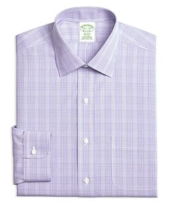 Brooks Brothers | Milano Tonal Plaid Regular Fit Dress Shirt