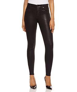 Hudson | Barbara Coated Super Skinny Jeans In Noir
