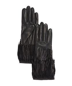 Agnelle | Leather Gloves With Fringe