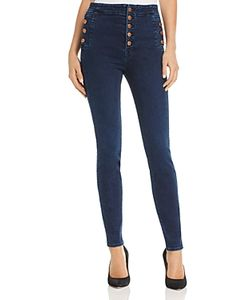 J Brand | Natasha Button Sky High Skinny Jeans In