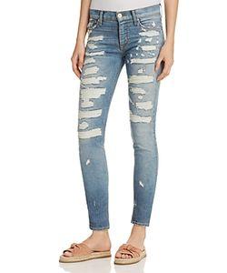 Hudson | Nico Super Destructed Skinny Jeans In