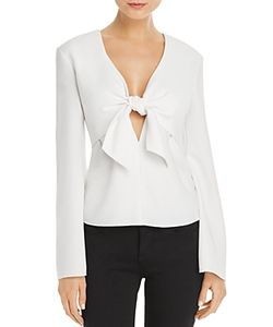 T by Alexander Wang   Tie-Front Top