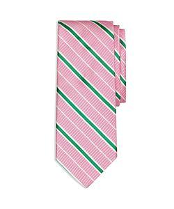 Brooks Brothers | Textured Ground Alternating Stripe Classic Tie