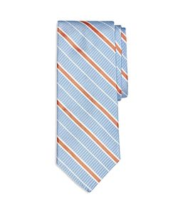 Brooks Brothers | Textured Ground Alternating Stripe Classic Tie