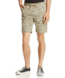 Michael Bastian | Feather Print Drawstring Shorts