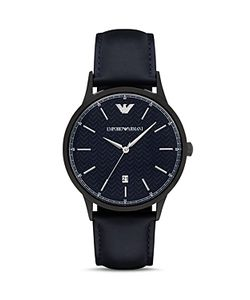 Emporio Armani | Leather Strap Watch 43mm