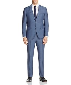 Hugo   Chambray Solid Regular Fit Suit