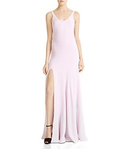 Halston Heritage | Side-Slit Flounce Gown