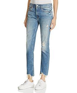 Mother   Flirt Fray Rigid Jeans In