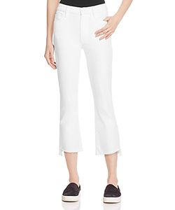 Mother   Insider Crop Step Fray Jeans In