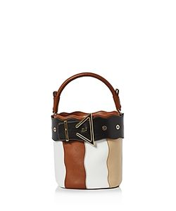 Sara Battaglia | Lucy Stripe Bucket Bag