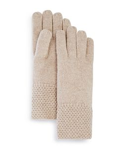 C By Bloomingdale's | Waffle Knit Gloves 100 Exclusive