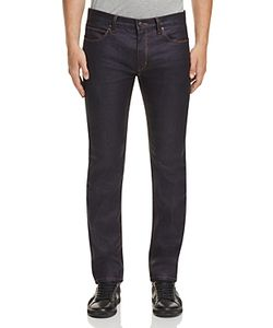 Hugo   Coated Denim Straight Fit Jeans In
