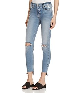Hudson | Nico Ankle Destroyed Jeans In 100 Exclusive