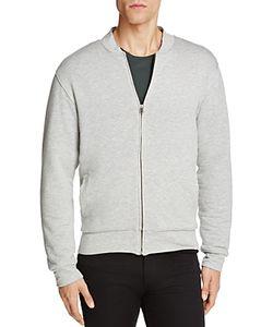 Velvet | Ravel Heathe Knit Fleece Lined Bomber Jacket