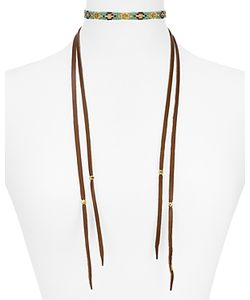 Chanluu | Leather Choker Necklace 10.8