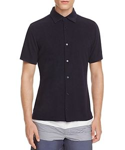 Z Zegna | Terry Slim Fit Button-Down Shirt