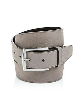 Cole Haan   Large Grain Nubuck Belt With Stitched Edge