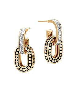 John Hardy | 18k Dot Diamond Small Drop Earrings