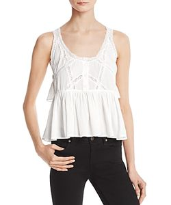 Current/Elliott | The Lace-Trim Top