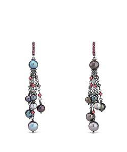 David Yurman | Bijoux Cultured Freshwater Pearl Fringe Earring With Rhodolite