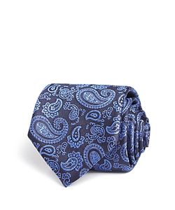 Canali   Large All Over Pines Classic Tie