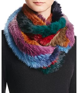 Jocelyn   Rabbit Hair Knitted Infinity Scarf 100 Exclusive