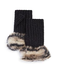 UGG | Australia Lurex Crochet Gloves With Shearling Sheepskin Cuff