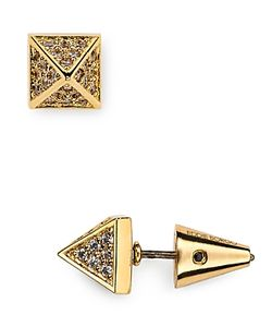 Eddie Borgo | Pave Pyramid Stud Earrings
