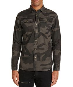 G-Star Raw | 3301 Camouflage Regular Fit Button-Down Shirt