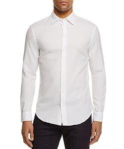 Armani Collezioni | Textured Regular Fit Button-Down Shirt