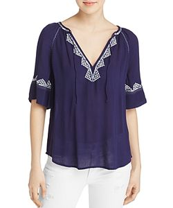 Paige | Chessa Embroidered Blouse