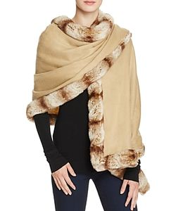 Badgley Mischka | Faux Fur Trim Wrap