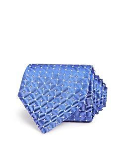 Armani Collezioni | Dot And Stripe Square Print Classic Tie