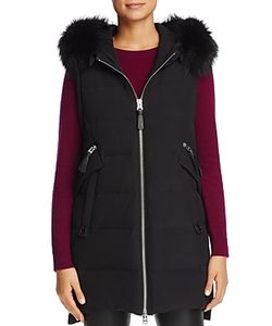 Derek Lam 10 Crosby | Fox Fur Trim Hooded Down Vest