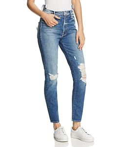 Mother   The Dazzler Shift Distressed Jeans In