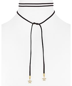Rebecca Minkoff | Leather Star Wrap Choker Necklace 54