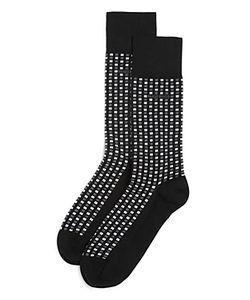 Boss Hugo Boss   Geo Dot Stretch Cotton Dress Socks