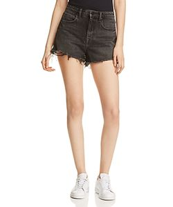 T by Alexander Wang | Bite High-Rise Denim Cutoff Shorts In