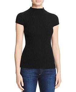 Aqua | Ribbed Mock Neck Sweater 100 Exclusive