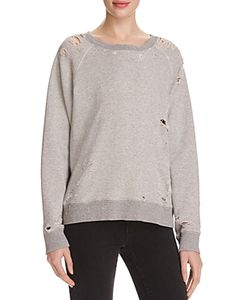 Mother   The Square Distressed Sweatshirt 100 Exclusive